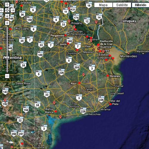 Mapa de Delitos / Piratería de Camiones Provincia de Buenos Aires 2015
