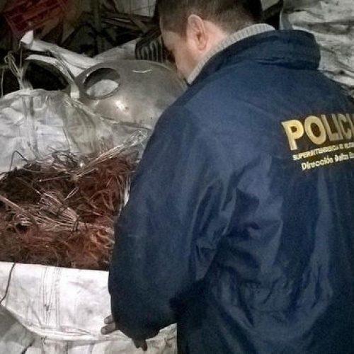 Cayó banda que robó seis toneladas de cobre en cables telefónicos